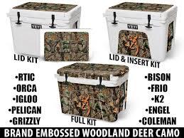 Brand Embossed Woodland Camo Deer Usatuff Cooler Wrap Custom Kits Usa Tuff