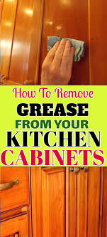how to remove grease from wood cabinets