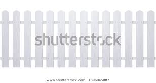 Wooden White Fence Illustration Farm Wood Stock Vector Royalty Free 1396845887