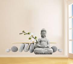 Buddha Statue Sitting Decal Figure Wall Art Print Oriental Sticker For Asian Home Decor On Luulla