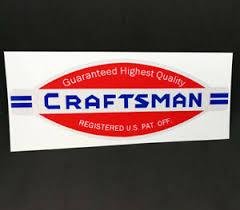 Craftsman Tools Vintage Style Decal 6 Vinyl Sticker Ebay