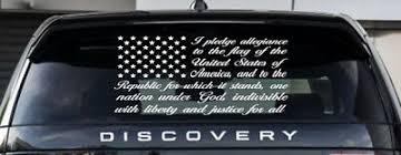 American Flag Pledge Vinyl Decal Truck Window Wall Sticker Allegiance Patriotic 6 49 Picclick