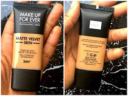 matte velvet skin foundation review