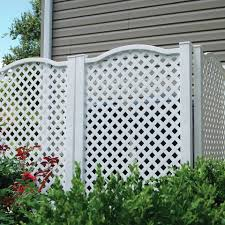 Freedom Grab Go 31 97 In W X 45 4 In H White Vinyl Polyresin Outdoor Privacy Screen In The Outdoor Privacy Screens Department At Lowes Com