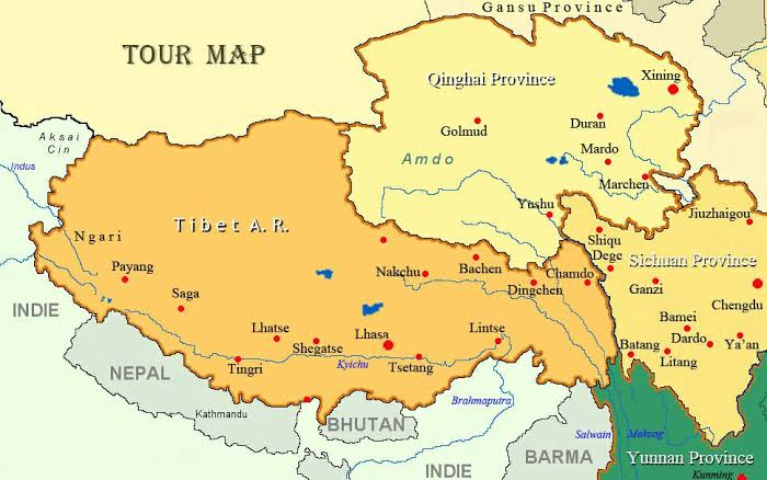 Image result for tibet map