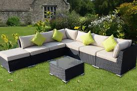 outsunny rattan sofa set garden deals