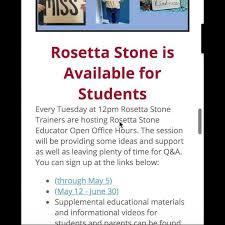 Here's an announcement regarding Rosetta... - West Valley Junior High Yakima