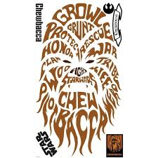 Shop York Wallcoverings Rmk2386gm Star Wars Typographic Chewbacca Peel And Stick Giant Wall Decals Overstock 16083097