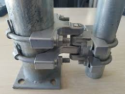 Gate Hinge Heavy Duty Adjustable Chain Link 2 Hinges Non Self Closing Wo U Bolts 831469006841 Ebay