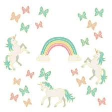Wall Pops Enchanting Unicorns Glow In The Dark Wall Art Kit Wall Decals Wpk3019 The Home Depot