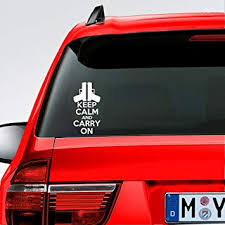 Amazon Com Mountainvalleyclimber Keep Calm And Carry On Sticker Conceal Pro Gun Rights Usa Bumper Car Truck Decal Automotive