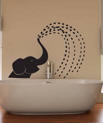 Vinyl Wall Decal Sticker Spraying Baby Elephant Os Dc649 Stickerbrand