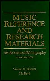 Music Reference and Research Materials: An Annotated Bibliography: Duckles,  Vincent H., Reed, Ida: 9780028708218: Amazon.com: Books