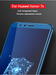 ộ ộ For Huawei Honor 7x Glass Tempered Full Cover Tempered Glass For Huawei Honor 7x Screen Protector Protective Glass For Honor 8x A566