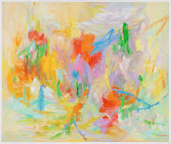Myra Wilson - Action Abstract (Abstract Expressionism, Red, Blue, Green,  Yellow) at 1stdibs