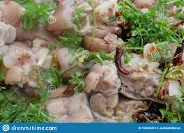 Asian Street Food Seafood Salad Stock ...