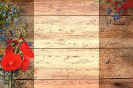 beauty wood with flowers backgrounds