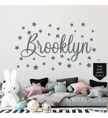 Vinyl Sticker Decal For Wall Name Wall Decal Star Wall Decal Boy Name Wall Decal Nursery Decor For Boy Custom Wall Sticker Kids Room Decor Boy Bedroom Decor Boy Name Wall Decal