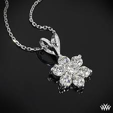 flower cer diamond pendant 718