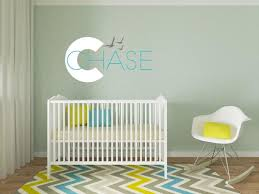 Boys Name Decals Nursery Wall Decals Beach Theme Decal Baby Etsy