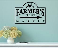 Enchantingly Elegant Farmer S Market Vintage Country Kitchen Wall Decal Wayfair