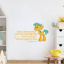 Design With Vinyl Every Child My Little Pony Quote Vinyl Wall Decal Wayfair