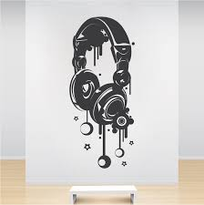 Headphones Wall Decal Trendy Wall Designs