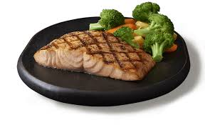 perfectly grilled salmon dinner