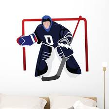 Playing Hockey Goalie Wall Decal Wallmonkeys Com
