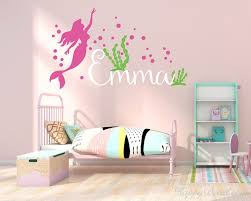 Little Mermaid Inspired With Personalised Name Wall Sticker