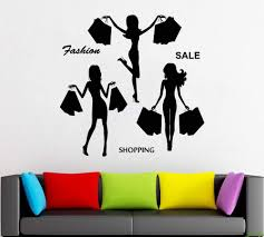 Amazon Com Fashion Wall Decal Window Sticker Style Clothing Boutique Dress Black Dress Model Hat 2159 Handmade