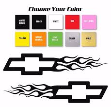 1pair Chevy Bowtie Flame Style Logo Right Left Car Decal Stickers Pick 2pcs 30x6 25cm Stickers Style Stickers Stickerslogo Car Sticker Aliexpress