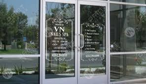 Window Clear Clings Nails Salon