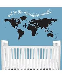 Great Sales On Adventure Awaits Wall Decal Quote Customizable Bedroom Childrens Baby Newborn Crib Bedding World Travel Map Mountain Travel
