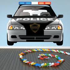 Police Car Wall Decal Sticker Ws 41209 Ebay