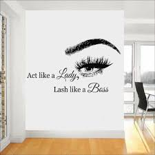 Wall Art Stickers Eyelashes Lashes Wall Decals Eyebrows Brows Beauty Salon Wall Decal Sticker Eye Quote Make Up Home Decor L783 Buy At The Price Of 9 34 In Aliexpress Com Imall Com
