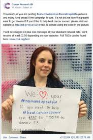 cancer research uk facebook post march