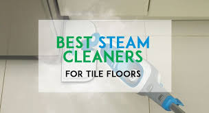 tile floors using steam cleaners on