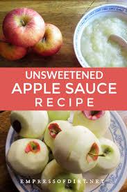 unsweetened apple sauce recipe