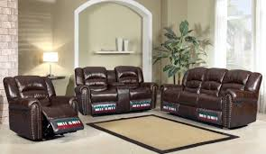 bonded leather recliner sofas
