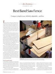 Jig Journal 50 Cent Band Saw Fence Woodworking Project Woodsmith Plans