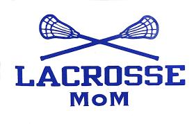 Amazon Com Custom Lacrosse Mom Vinyl Decal Sports Bumper Sticker For Coolers Laptops Car Windows Crossed Sticks Design Handmade