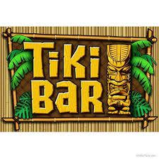 Tiki Bar Palms And Bamboo Wall Decal Etsy