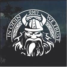 In Odin We Trust Thor Viking Helmet Window Decal Sticker Custom Sticker Shop