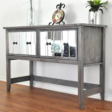 diy mirrored console table for under