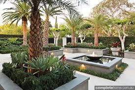 formal design meets tropical landscape