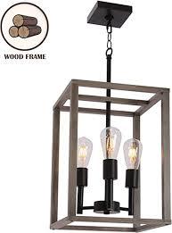 farmhouse chandelier pendant lamp black
