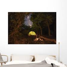 Illuminated Tent And Fire Wall Decal Wallmonkeys Com