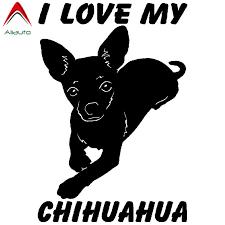 Aliauto Funny Animal Car Sticker I Love My Chihuahua Dog Accessories Waterproof Reflective Cartoon Decal Vinyl 15cm 10cm Car Stickers Aliexpress