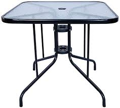 square outdoor glass dining table